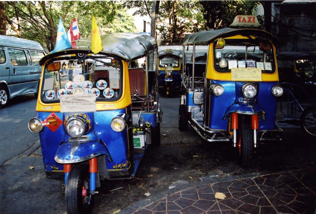 Tuk tuk w Bangkoku, Tajlandia