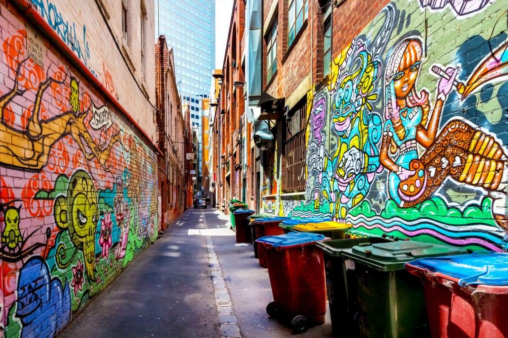 Graffiti w Melbourne, Australia