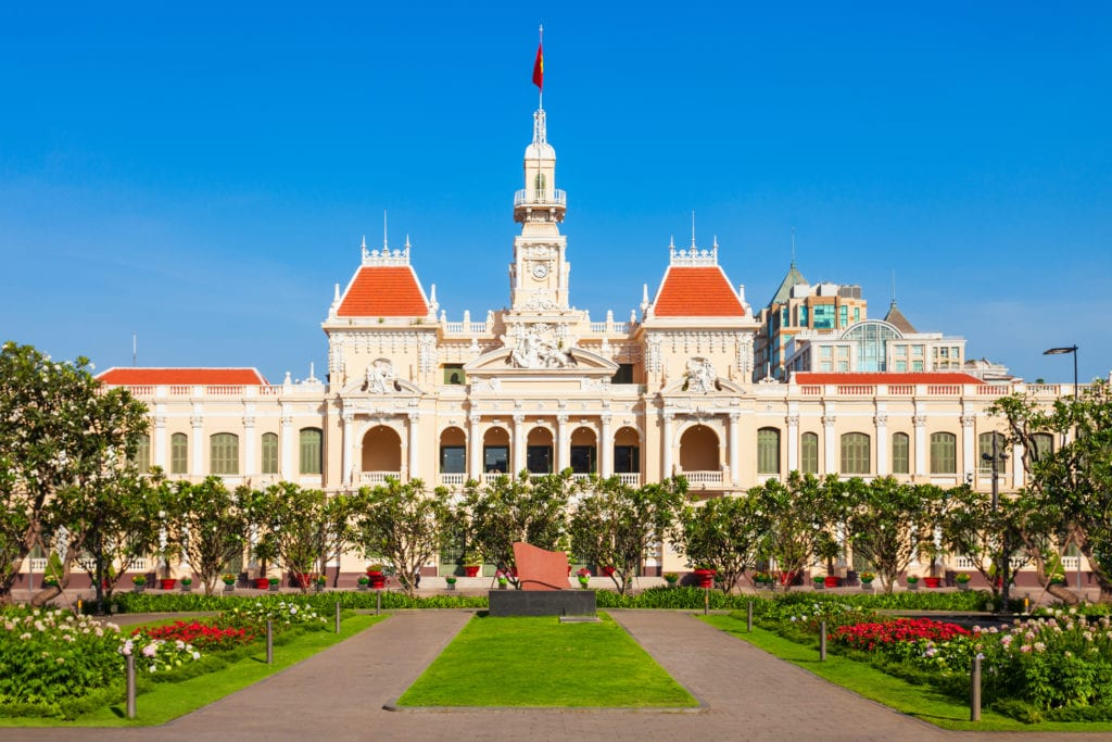 Ratusz w Ho Chi Minh City, Wietnam