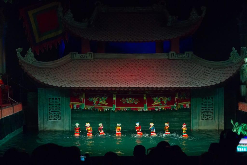 Teatr Lalek na Wodzie w Hanoi, Wietnam