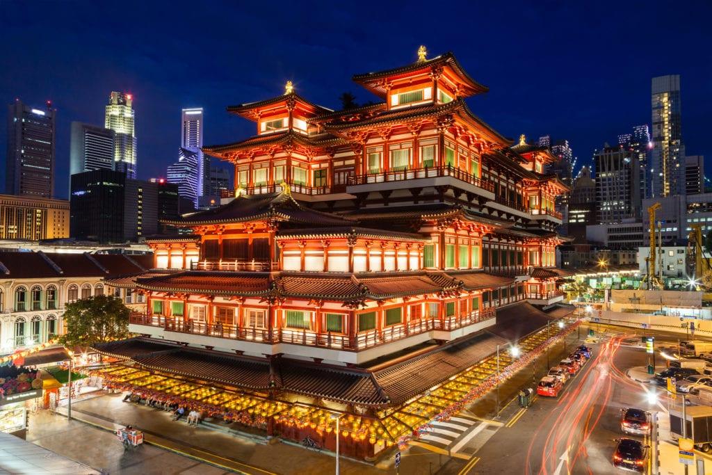 Chińska świątynia w Chinatown w Singapurze