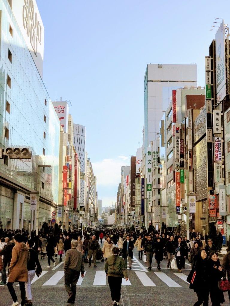 Ginza - najmodniejsza ulica w Tokio Japonia