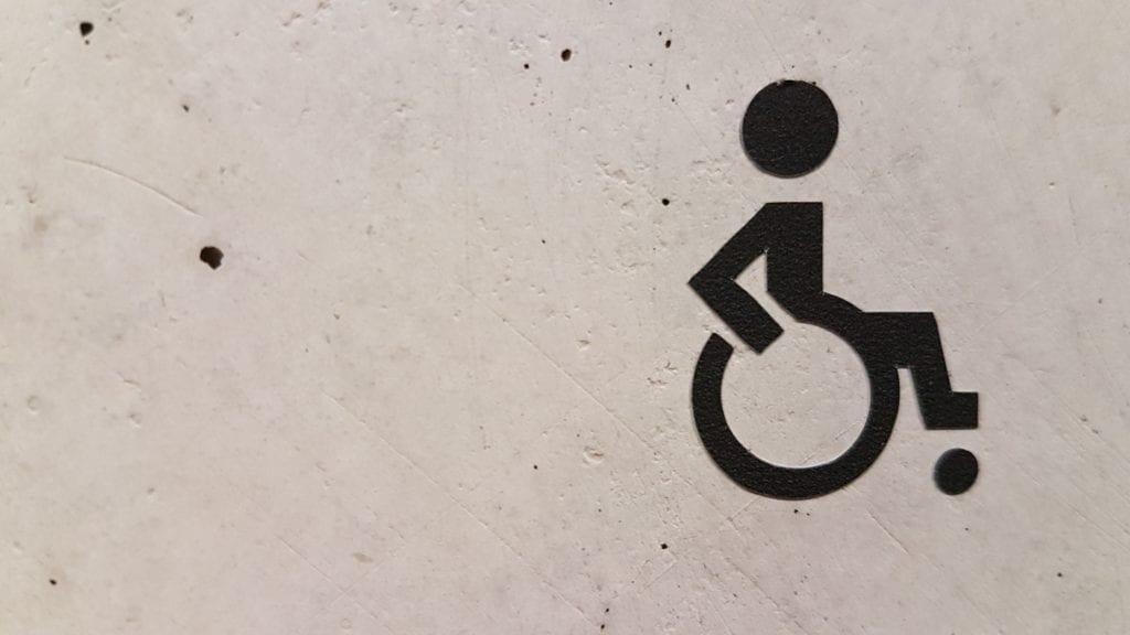 Grafika osoba niepełnosprawna