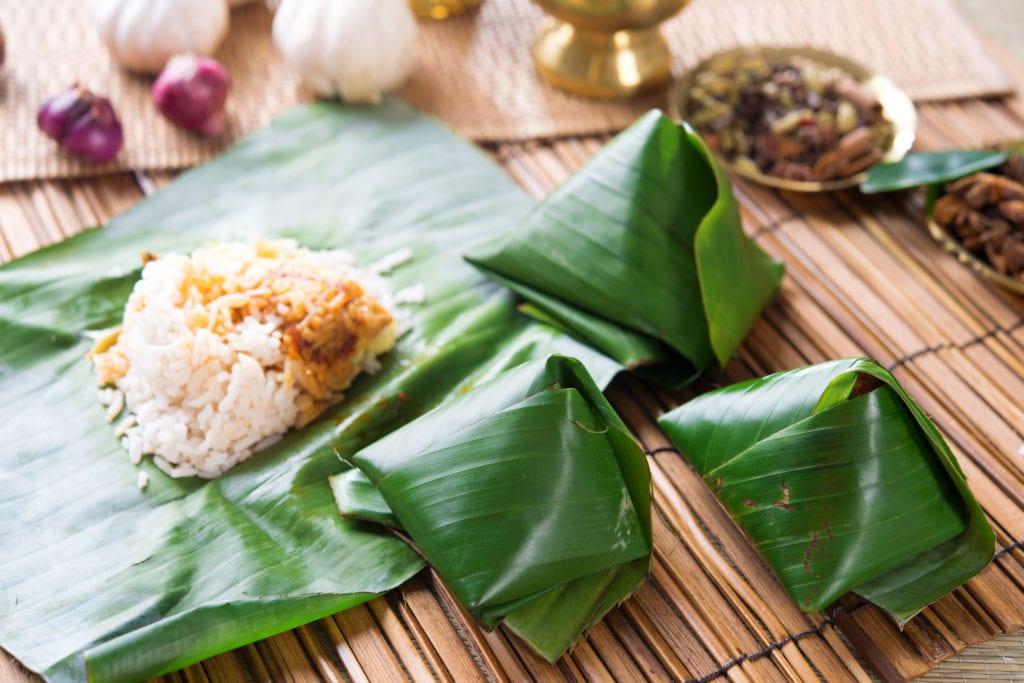 Nasi lemak - malezyjskie śniadanie,