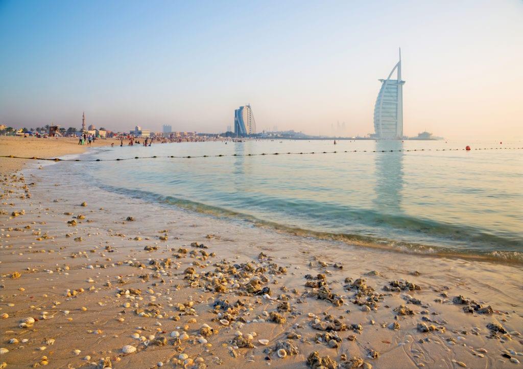 Plaża w Dubaju,