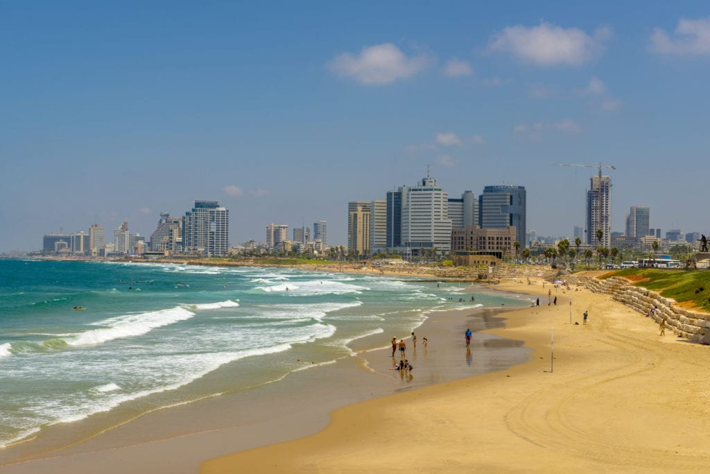 Plaża w Tel Awiwie, Izrael