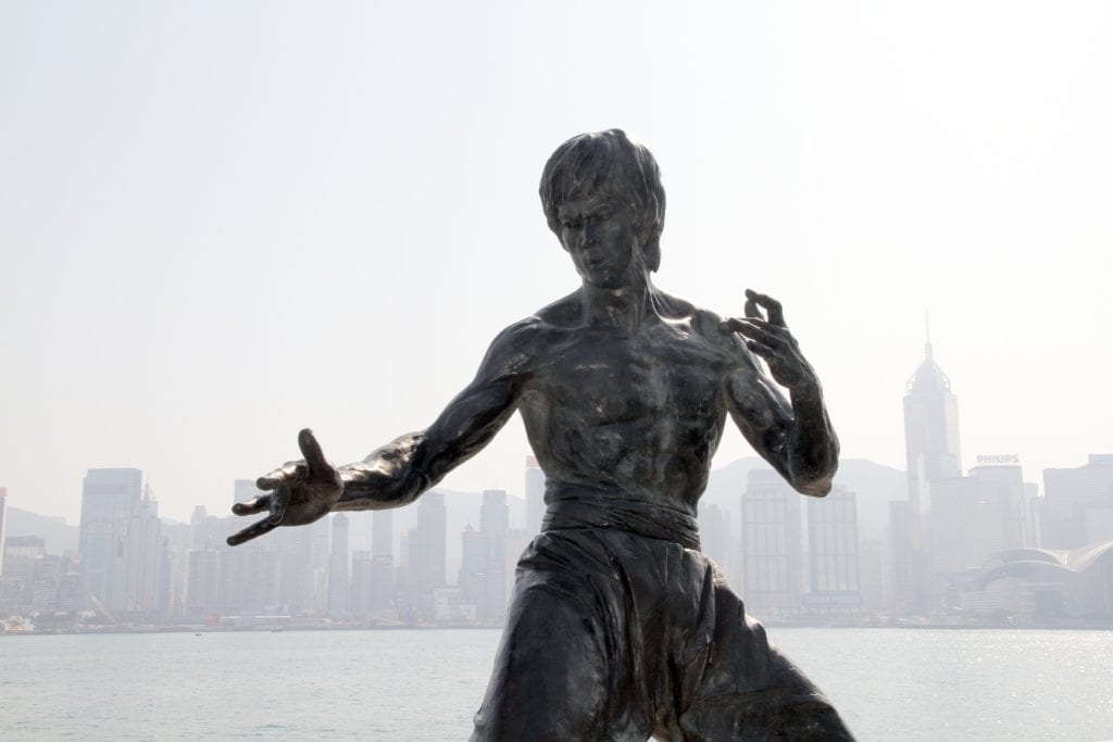 Pomnik Bruce Lee w Hong Kongu