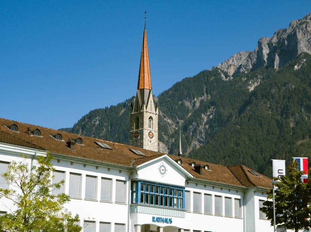 Ratusz w Vaduz Liechtenstein