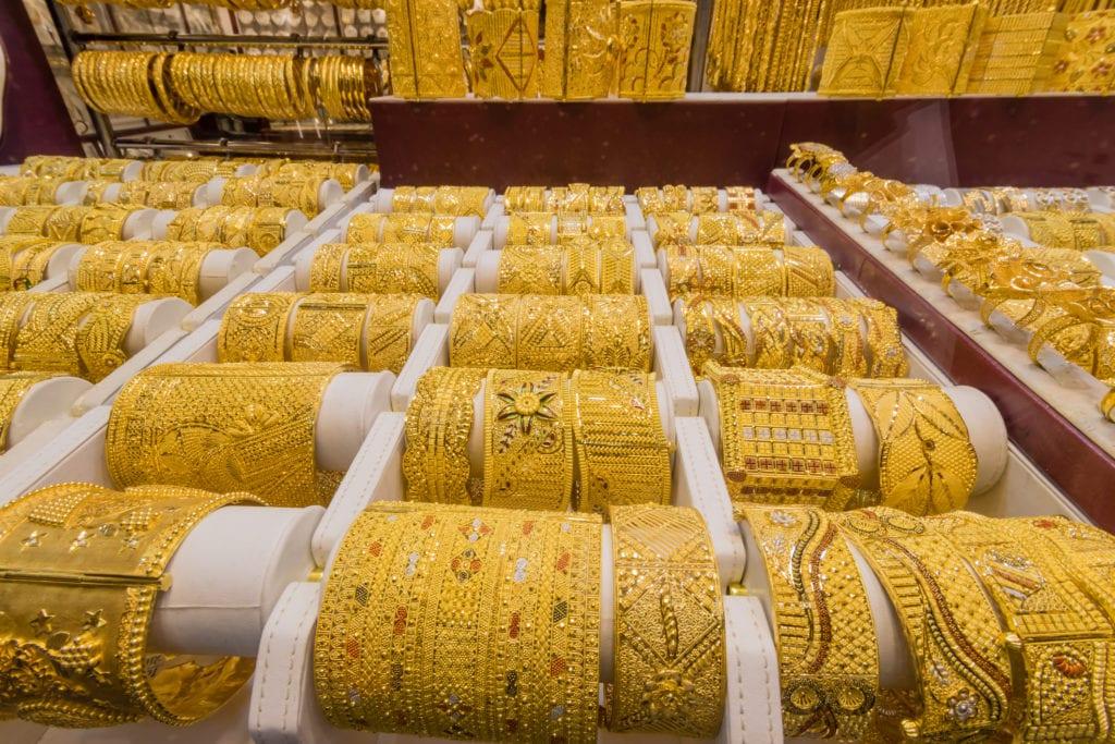 Suk ze złotem w Dubaju,