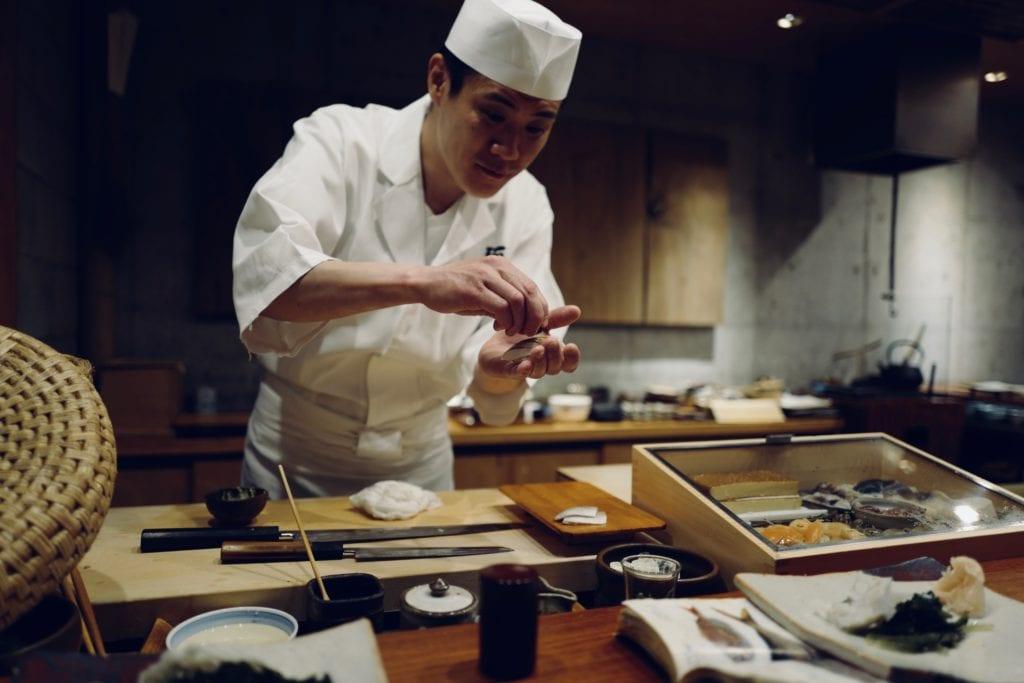 W japońskiej restauracji,