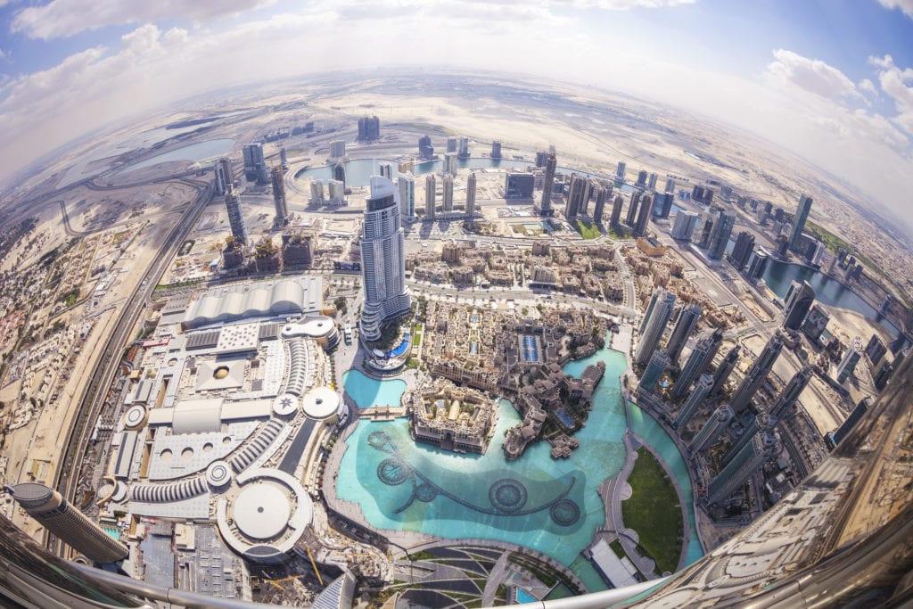 Widok z Burj Khalifa, Dubaj