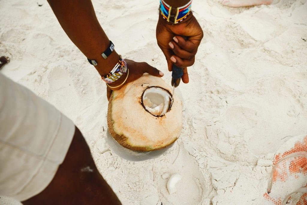 Woda kokosowa, Zanzibar