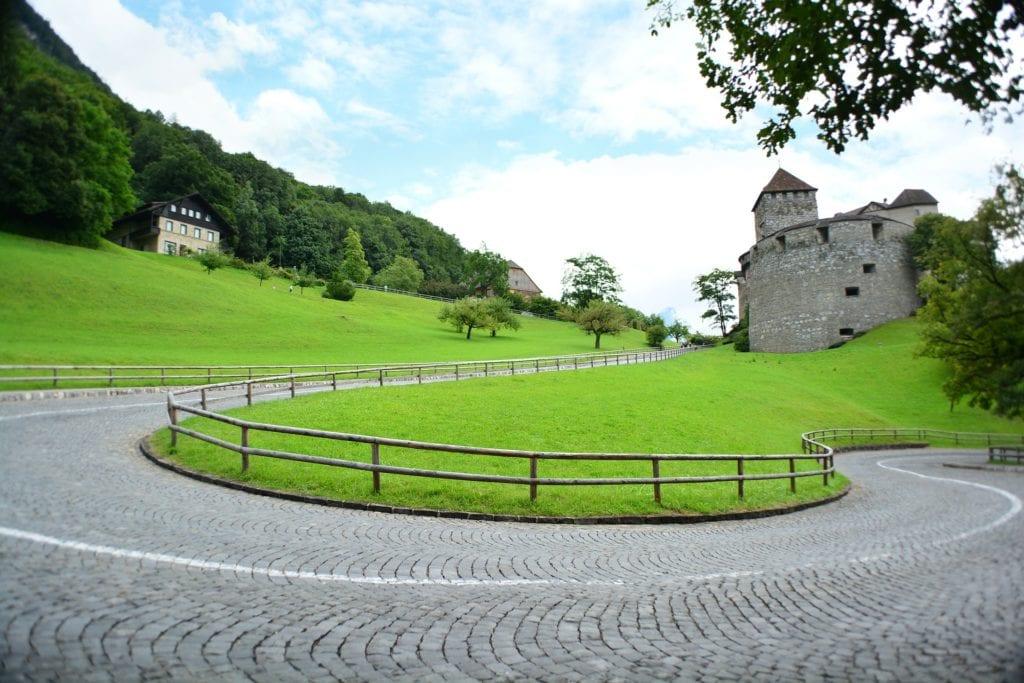 Zamek w Vaduz, Liechtenstein