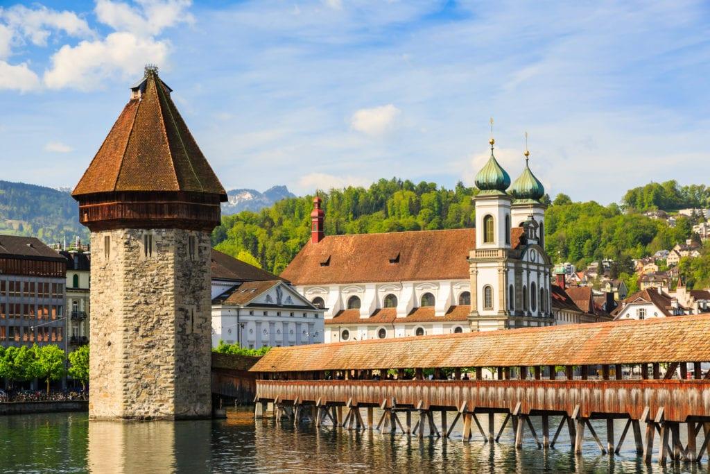 Most Kapellbrücke, Szwajcaria