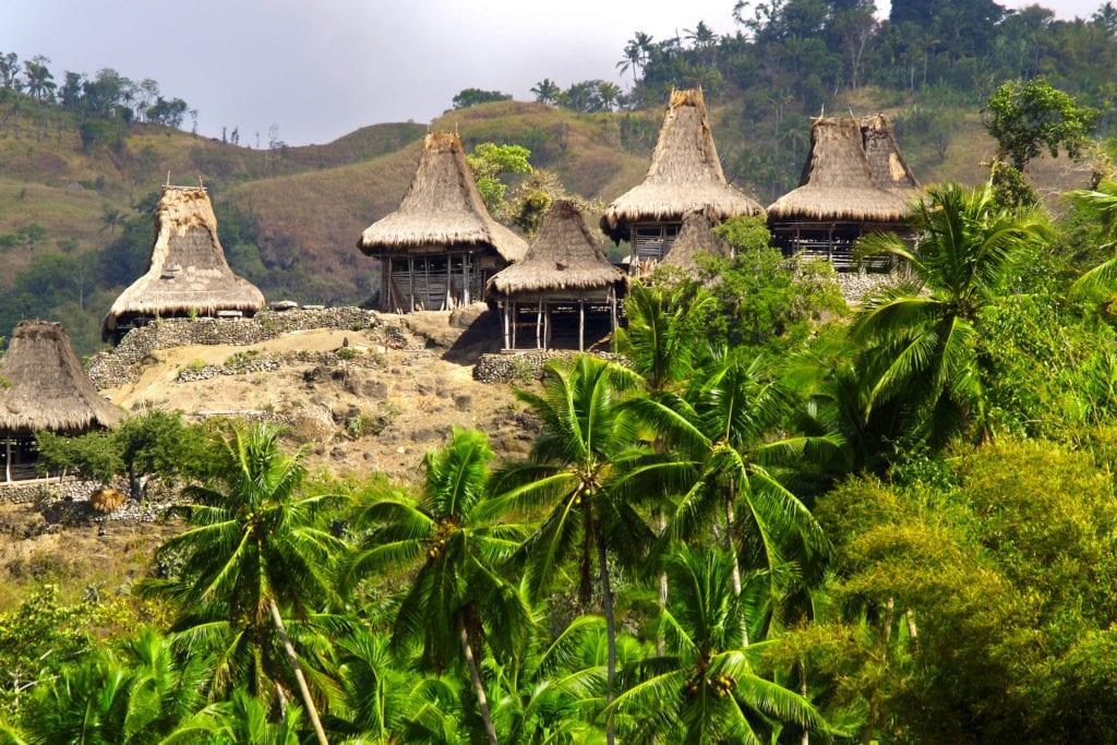 Tradycyjne domy na Sumbie, Indonezja