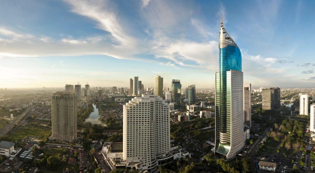 Wieżowiec Wisma 46 w Dżakarcie, Jawa Indonezja