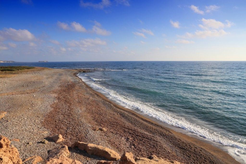 Żółwie Karetta składają na plaży Lara jaja, Cypr