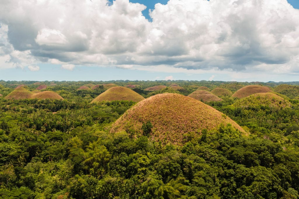 Czekoladowe Wzgórza na wyspie Bohol, Filipiny