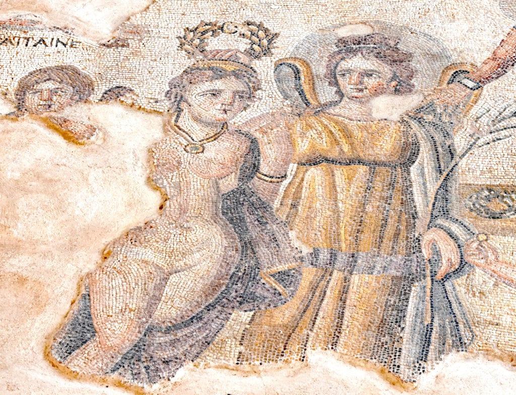 Fragment mozaiki w Park Archeologicznym Kato Pafos Kato Pafos, Cypr