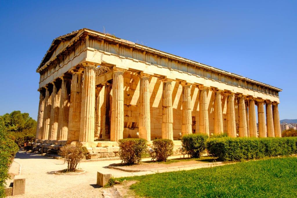 Hefajstejon - świątynia poświęcona Hefajstosowi i Atenie, Agora grecka, Ateny