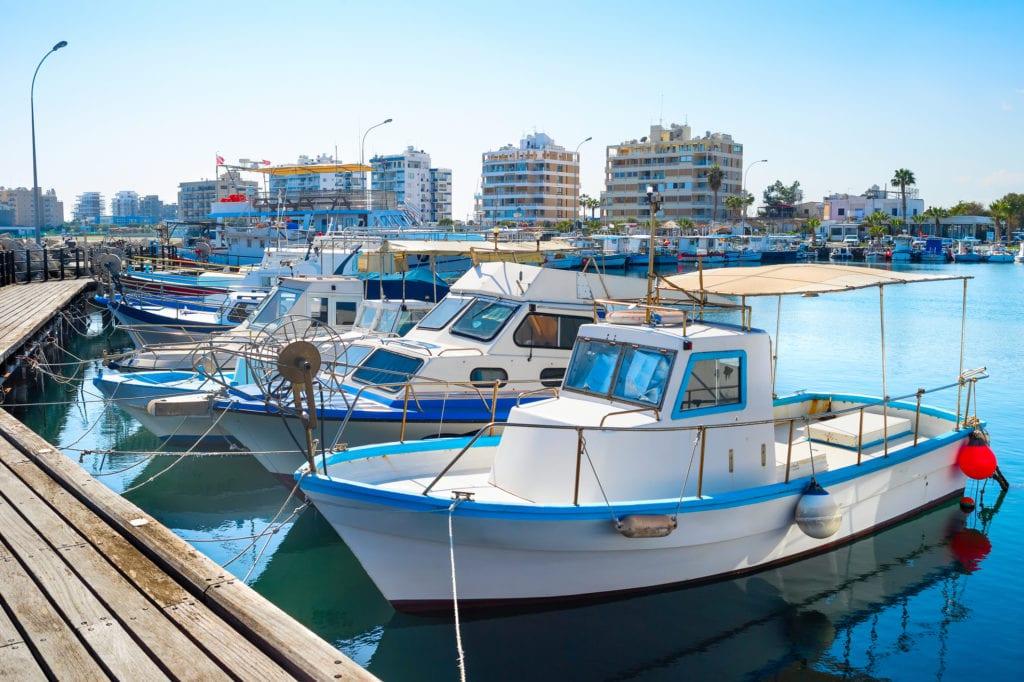 Marina w Larnace, Cypr
