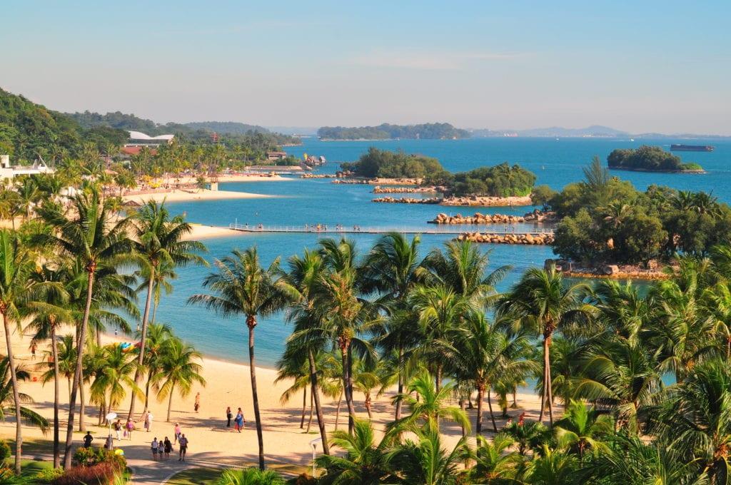 Palawan Beach na wyspie Sentosa, Singapur
