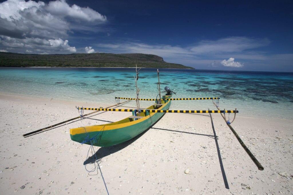 Plaża na wyspie Jaco, Timot Wschodni