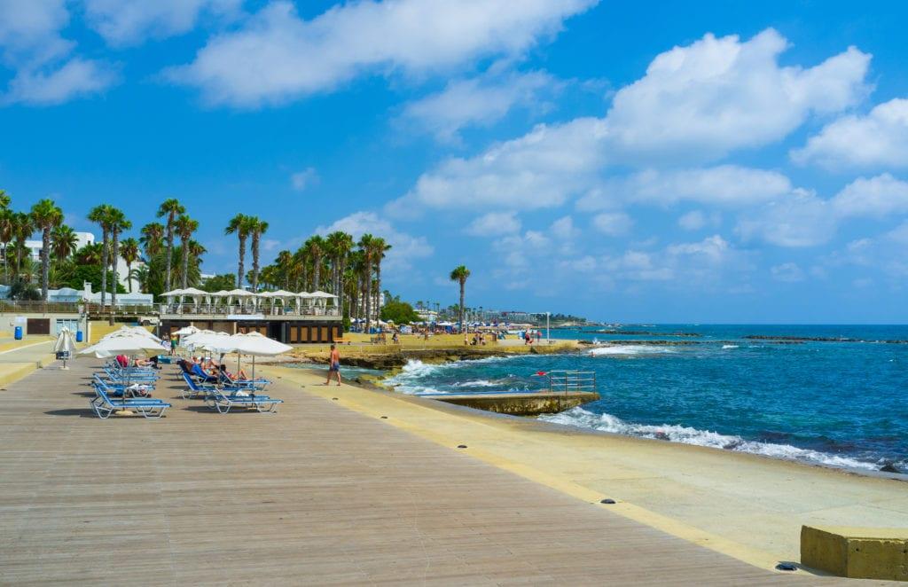 Plaże w okolicach Pafos, Cypr