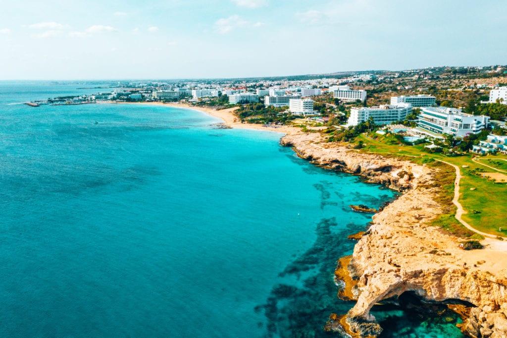 Plaże w zatoce Konnos, Cypr