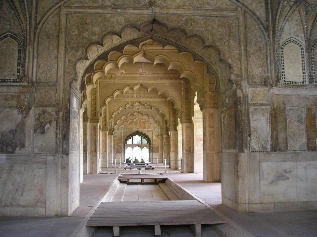Wnętrza Czerwonego Fortu, Delhi