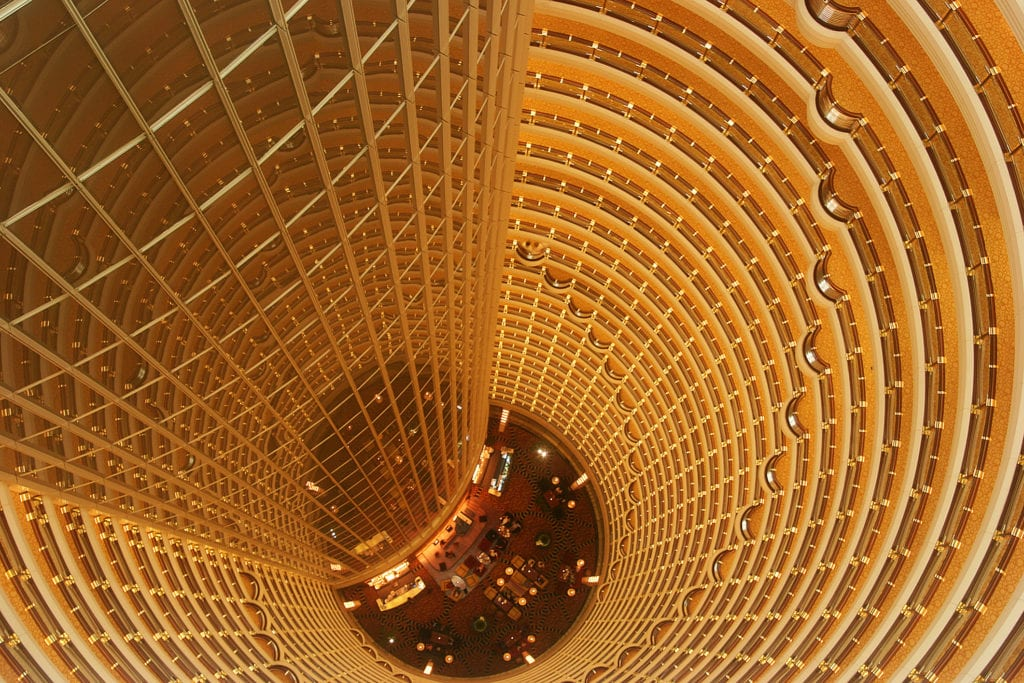 Wnętrze Jin Mao Tower, Szanghaj