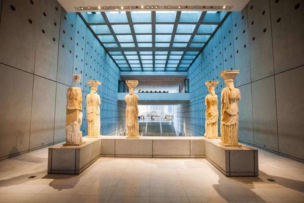 Wnętrze Muzeum Akropolu, Ateny