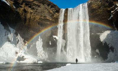 Wodospad Skógafoss, Islandia