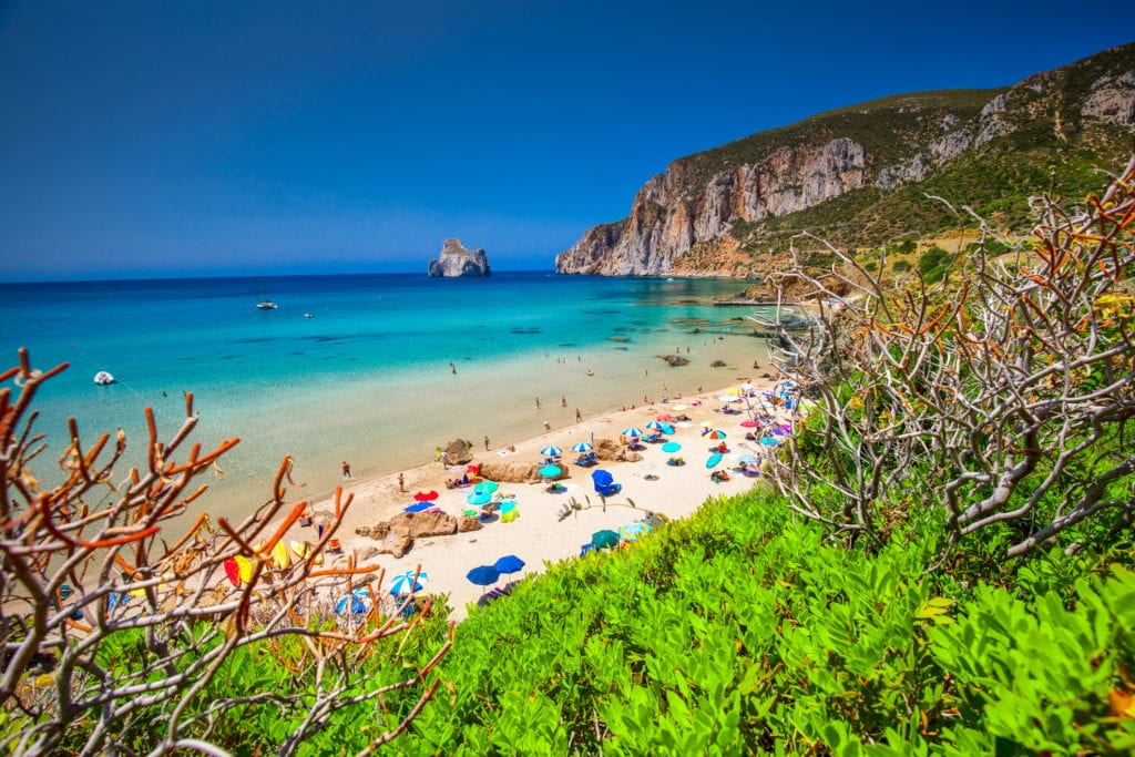 plaża Masua Pan di Zucchero Sardynia