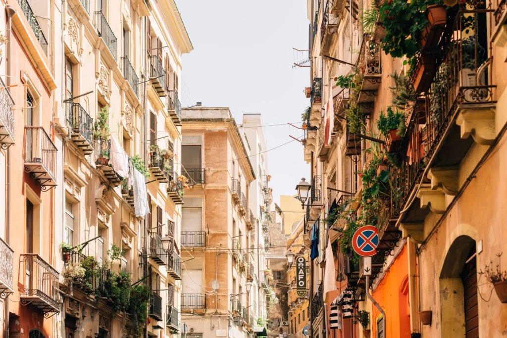 Klimatyczne ulice Cagliari, Sardynia