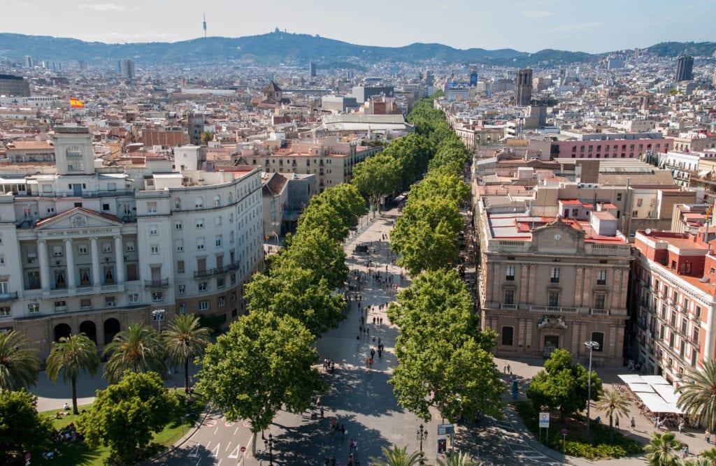 La Rambla w Barcelonie, najbardziej znana ulica