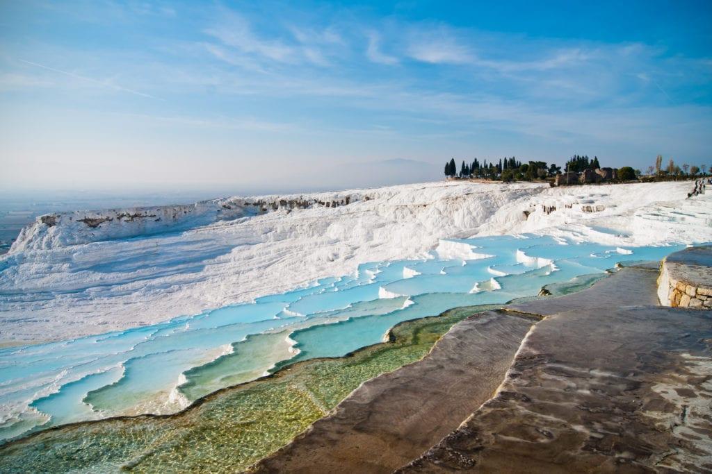 Pamukkale baseny Turcja