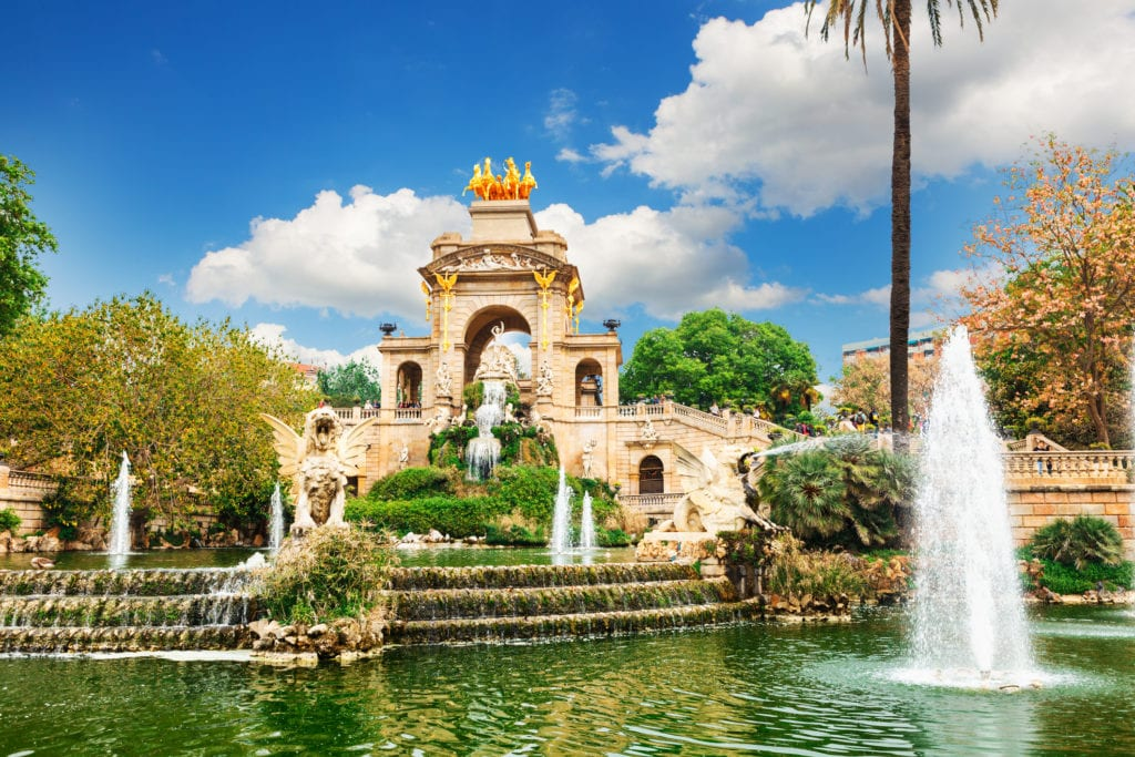 Park Ciutadella, fontanna BArcelona Hiszpania