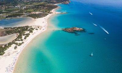 Plaża Su Giudeu na południowy zachód od Cagliari, Sardynia