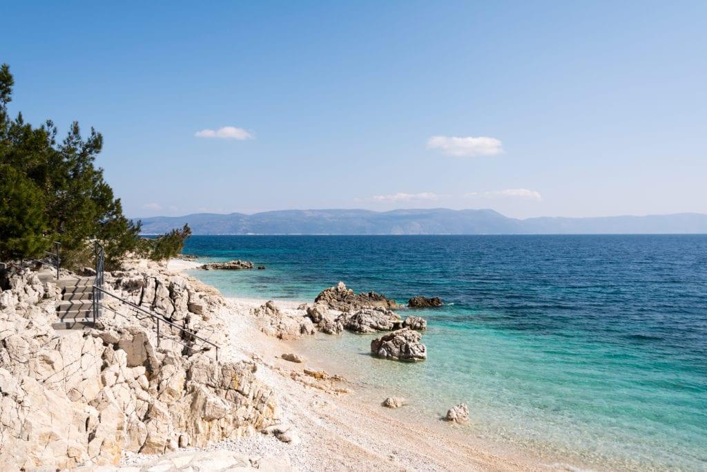 Plaża w Rabac, fot. Dario Racane' Dreamstime.comPlaża w Rabac, Istria Chorwacja