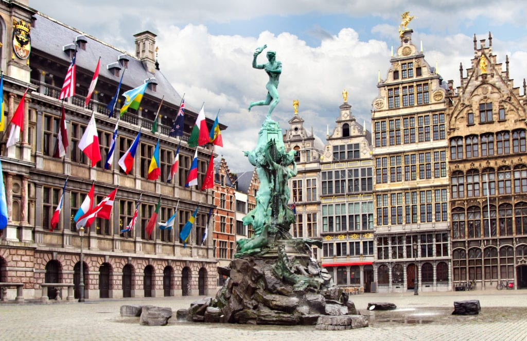 Rynek w Antwerpii, Belgia