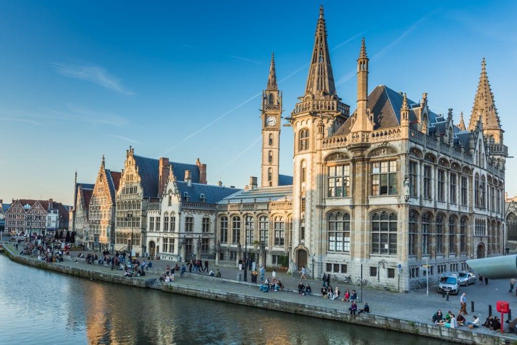 Stare miasto w Gandawie, Belgia