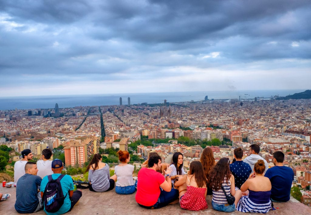 Widok na Barcelonę z bunkrów Bunkers del Carmen,