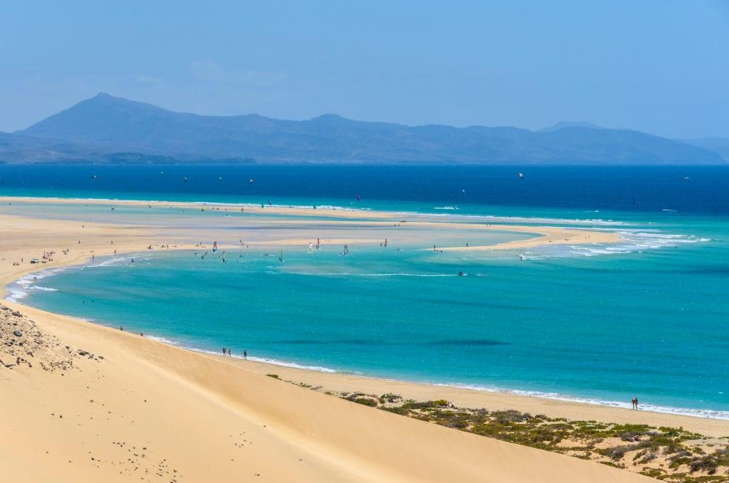 Sotavento Beach in Fuerteventura