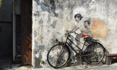 Graffiti w George Town, Penang, Malezja
