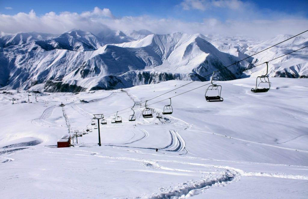 Gruziński ośrodek narciarski Gudauri, narty w Gruzji
