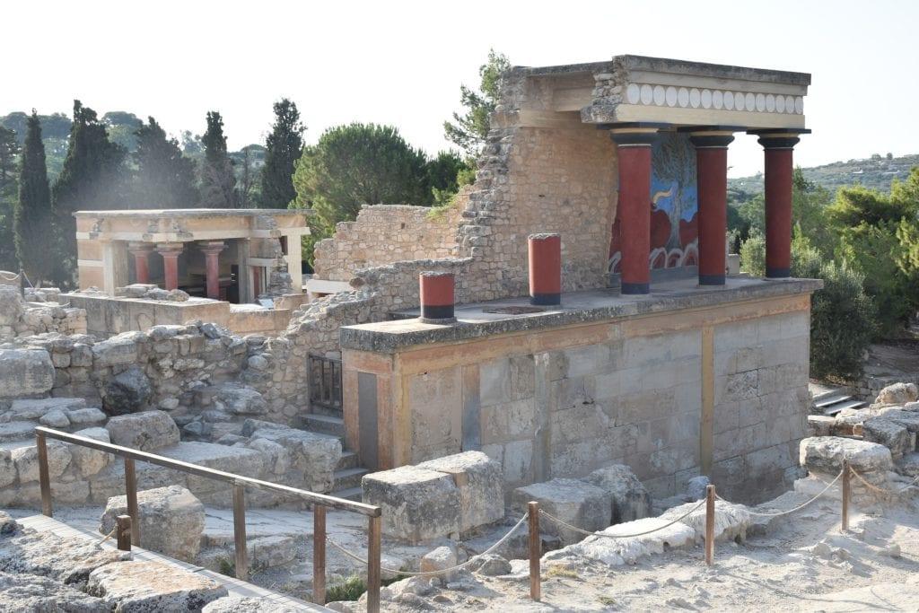 Ruiny pałacu w Knossos na Krecie, Grecja