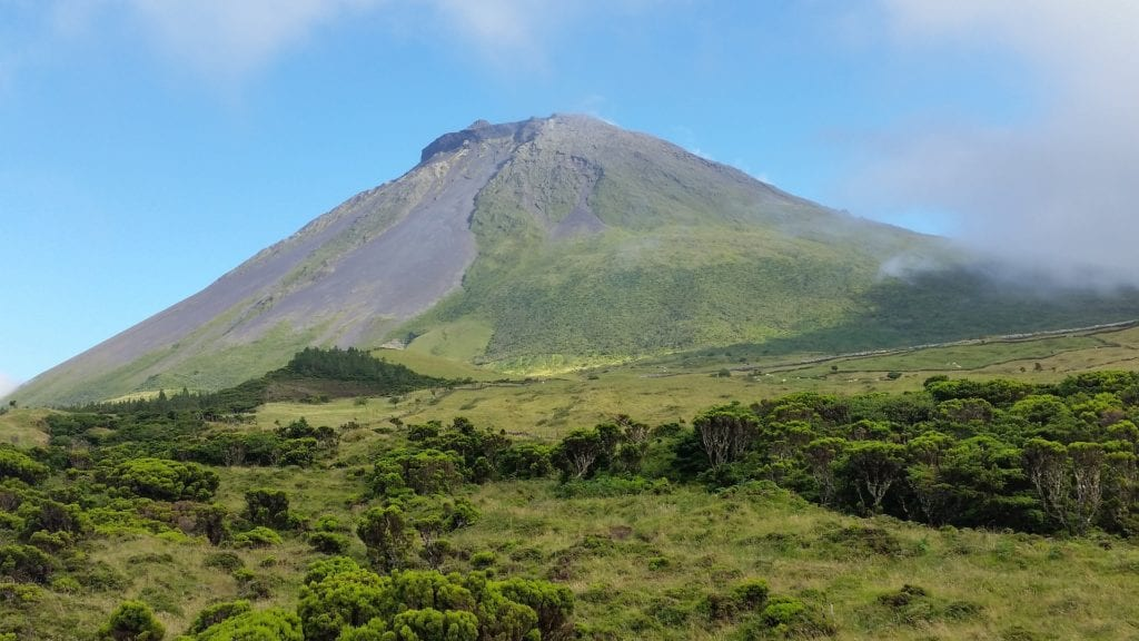 Szczyt Pico na wyspie Pico,