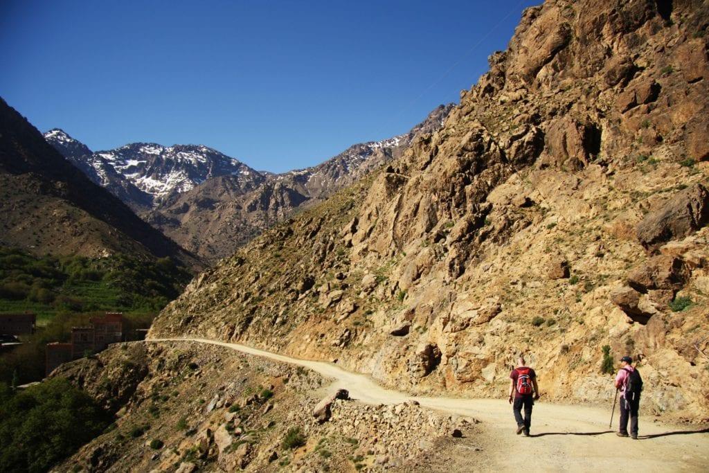 Trekking po Atlasie, w drodze na szczyt Tubkal, Maroko