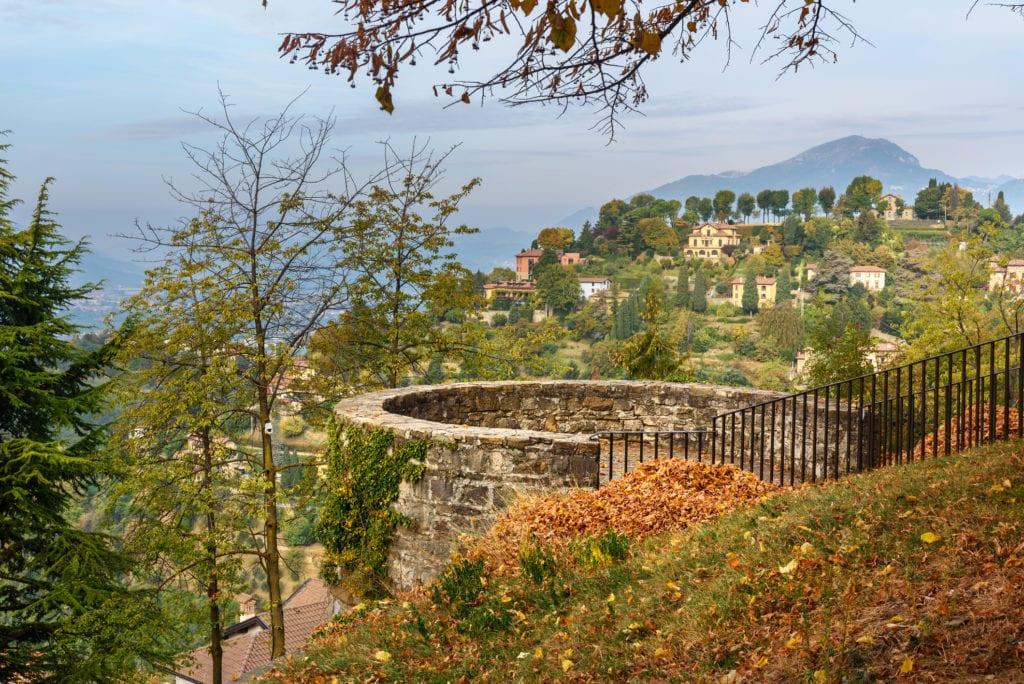Fragmenty zamku San Vigilio, Bergamo
